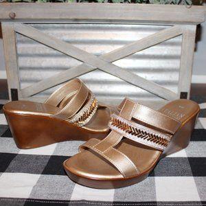 NEW Italian Shoemaker Embellished Wedges Size 6M